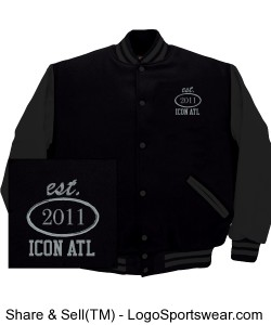 iCON Black on Black Varsity Tour Jacket Design Zoom