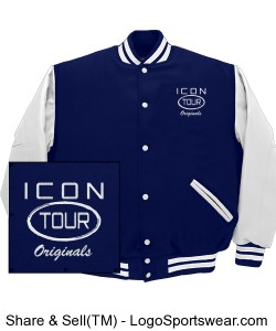 Icon Tour Letterman Jacket Design Zoom