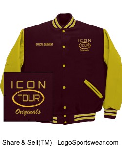 Icon D.C. Bomber Letterman Design Zoom