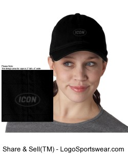 Ladies True Black Icon Cap Design Zoom